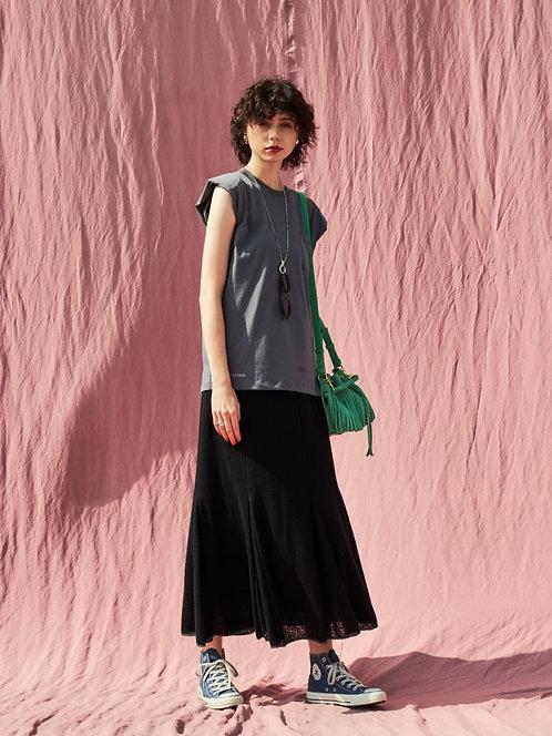Sheer jacquard skirt