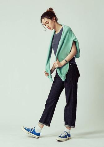 Garment dye Sweats ¥14,000+tax Waffle no-sleeve ¥7,000+tax Denim Pants ¥18,500+tax