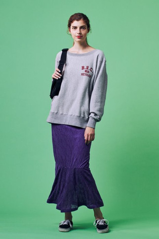 """""""B.R.C""""Sweatshirt¥14,000+tax Lace Jacquard Skirt¥12,000+tax"""