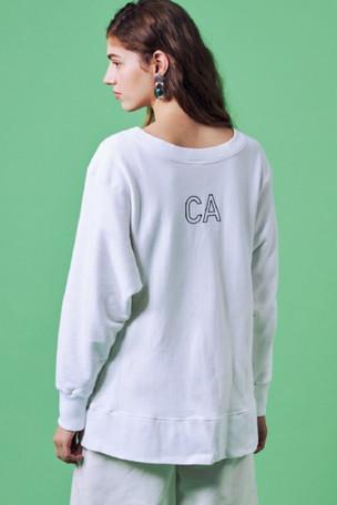 """BRAN_CA""Logo Sweat shirt¥14,000+tax Short Chino Pants¥12,000+tax"