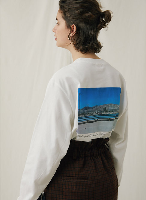 """Blue sky photo""Long sleeve Tee"