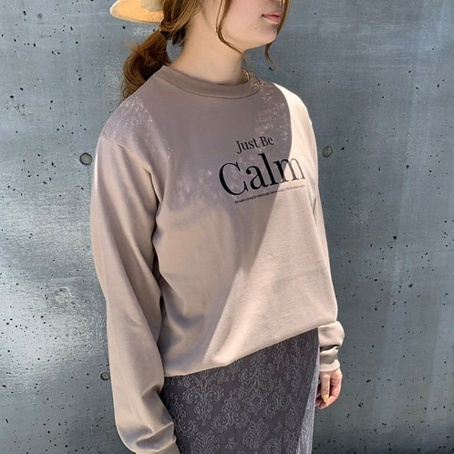 """CALM""Long sleeve Tee"