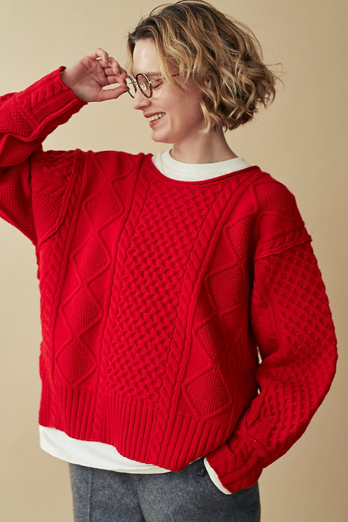 Aran Knit Pullover -SALE-