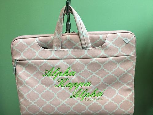 AKA Pink & Green Computer Bag