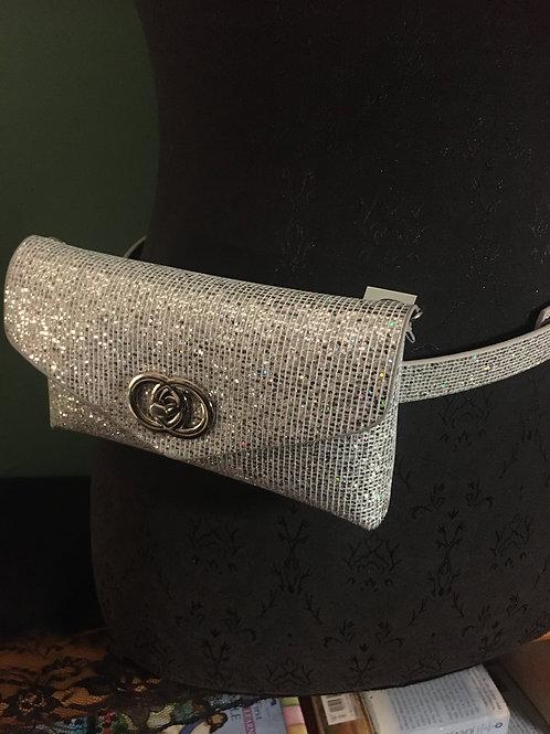 Silver Fanny Pack / Clutch / Belt Bag