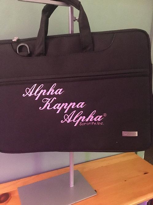 AKA Pink & Black Computer Bag
