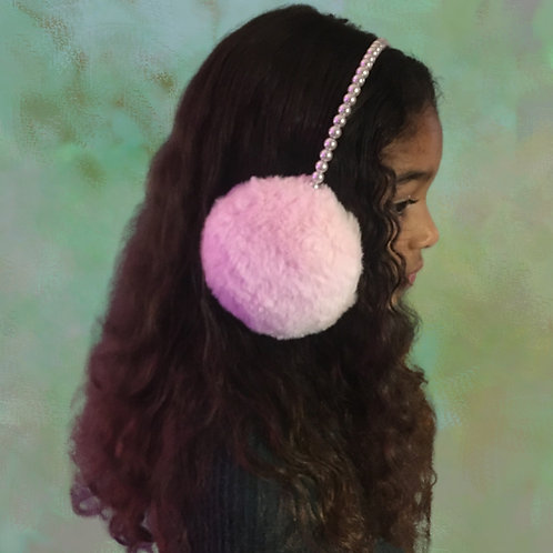 Pink Earmuffs with Pearl Band