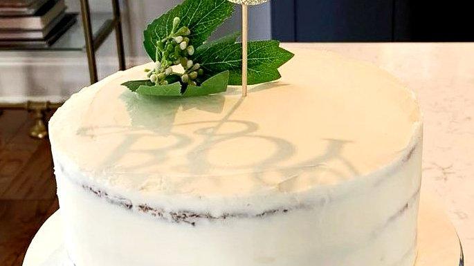 White cake with Homemade Lemon Curd
