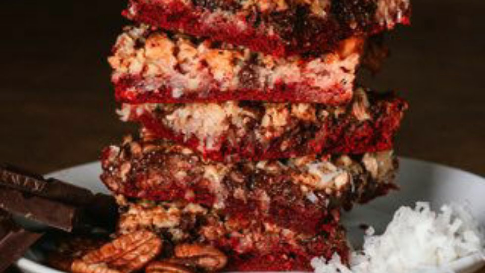 Red Velvet 7 Layer Bars - Quarter Sheet