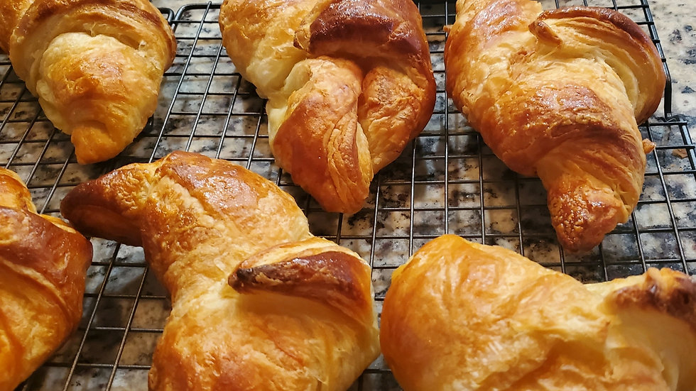 Homemade Flaky French Croissants