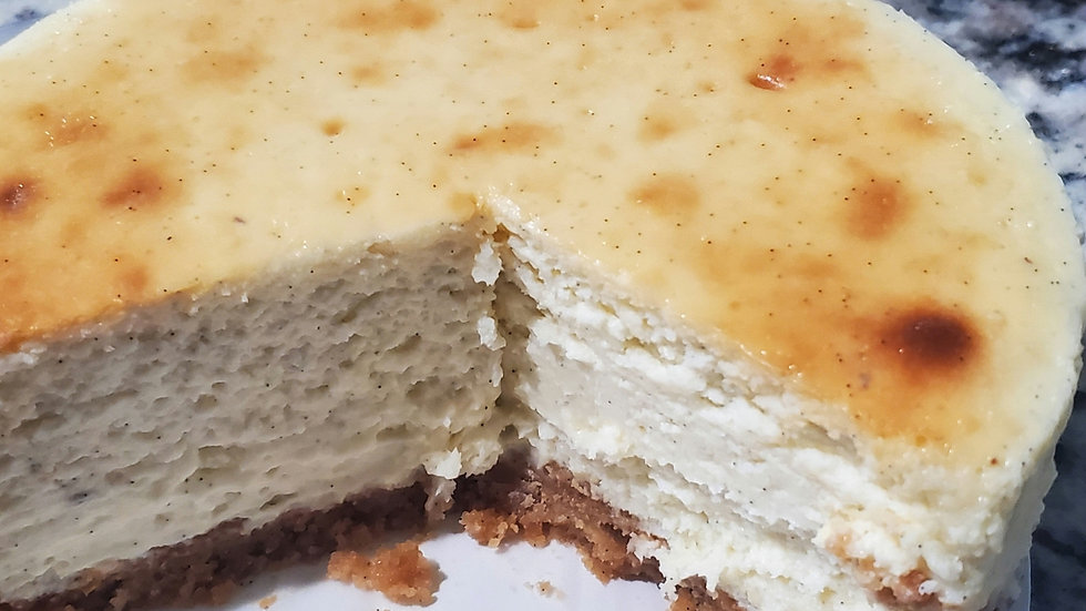 Vanilla Bean Cheesecake with a Vanilla Bean Cookie Crust