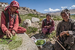 Indian woman preparing spices