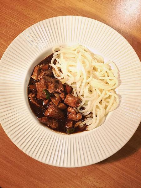 Korean Jajangmyeon - Noodles with black bean sauce