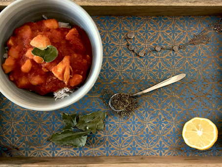 Ladob Poul— Mauritian Chicken Kari