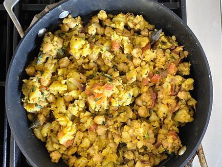 INSTA LIVE: Roti + Potato & Chickpea Curry