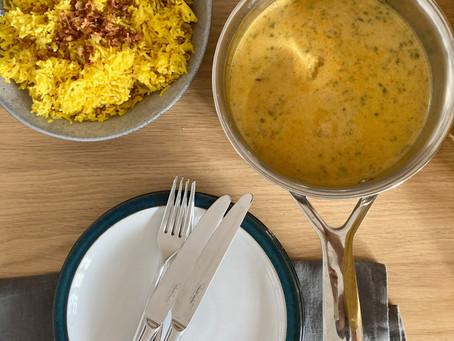 Kadhi Kichriy —  Moong Daal & Yogurt Kadhi