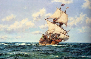 In 1620, 102 people left Plymouth on the Mayflower and sailed for 66 days to reach America.