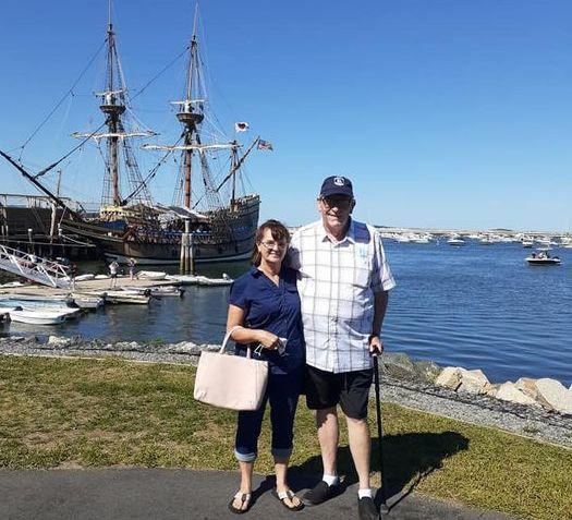 Steve and Judy Arnold-Mayflower II backg