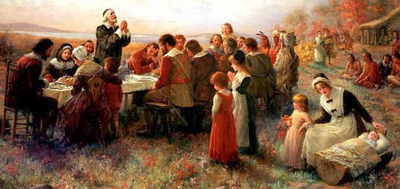 Around half the group survived the first winter and celebrated the first ever 'Thanksgiving' in 1621.