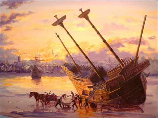 What happened on the Mayflower in March 1621?