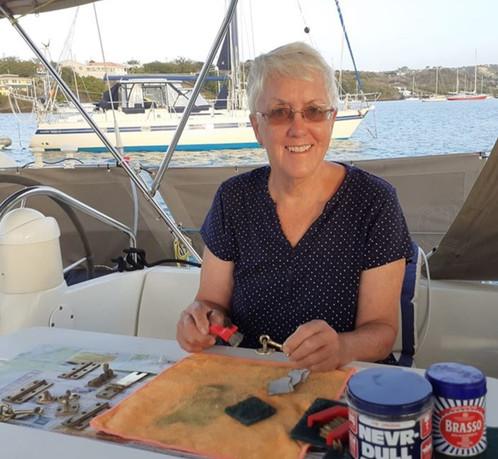Jeanne Harrison sailing the world on 'Dakota'
