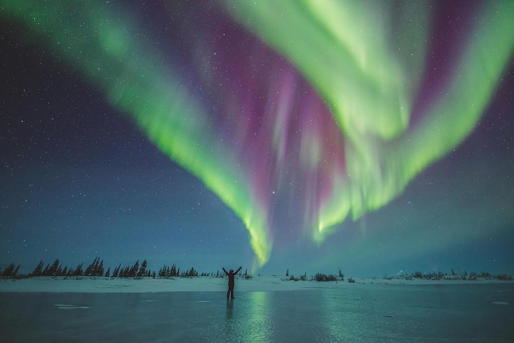 Aurora Borealis Polarlichter Nordlichter Churchill