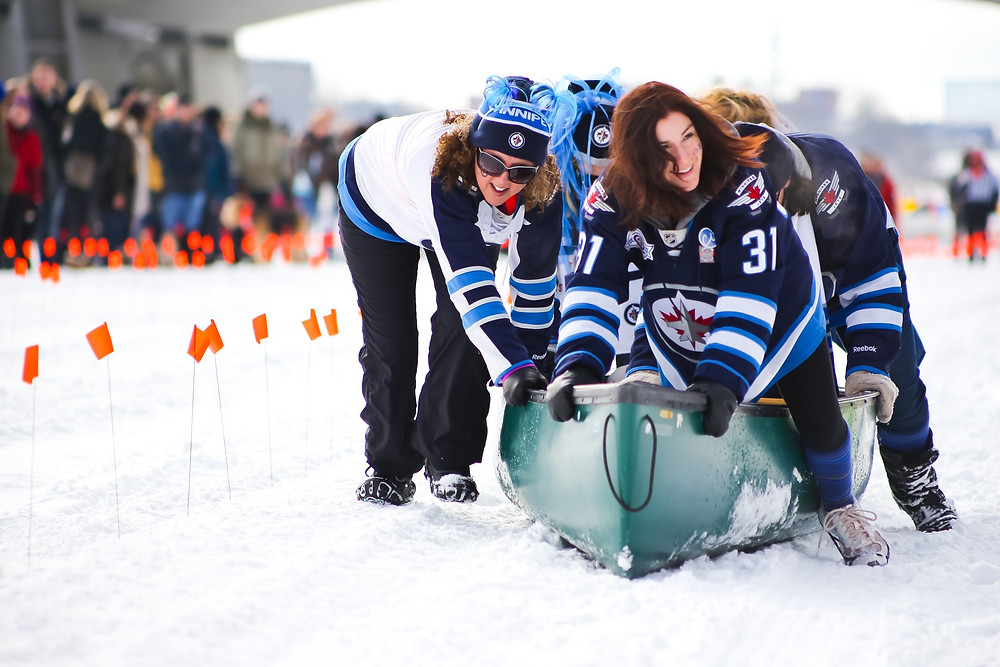 Wild Winter Canoe Race Winnipeg