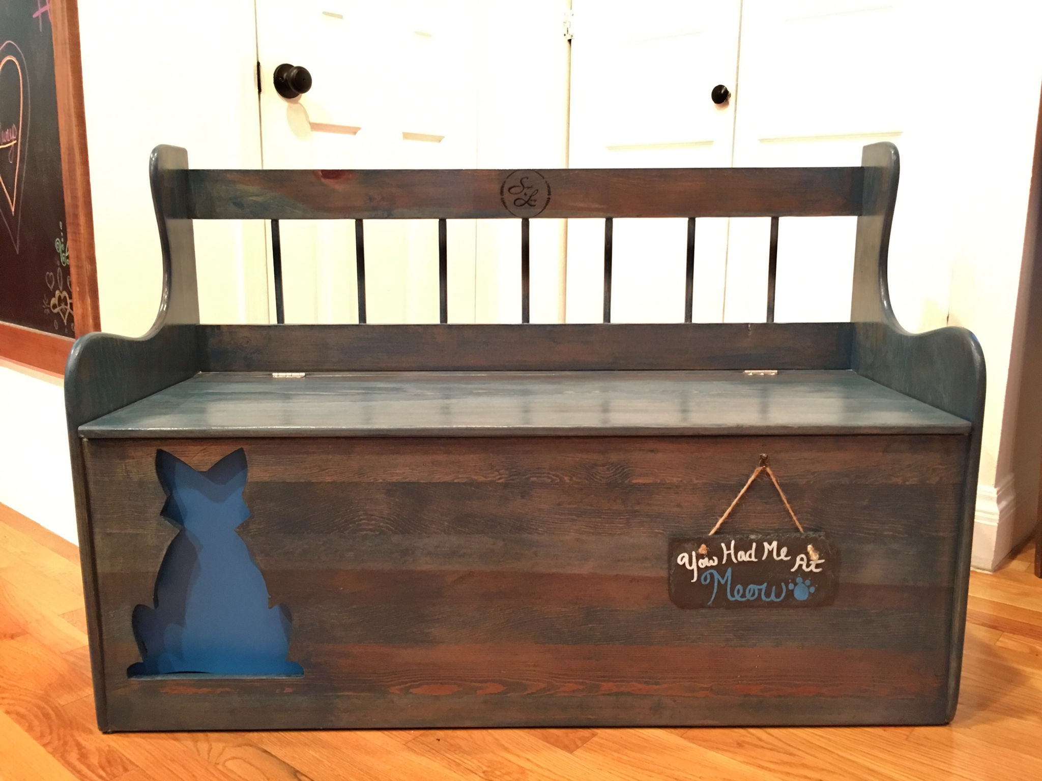Worn Navy Carolina Blue Simple By Lacey Woodworking Craftsman