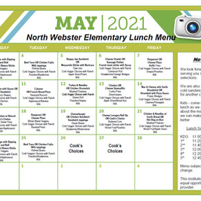 NWES May 2021 Lunch Menu