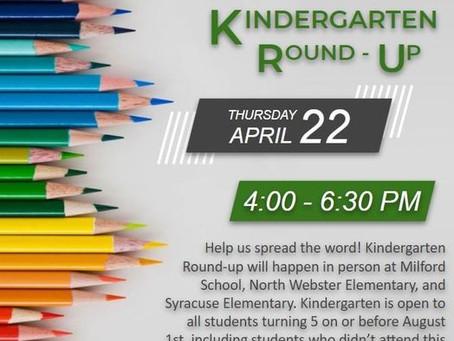 Kindergarten Round Up - April 22, 2021