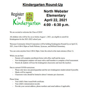 Details About Kindergarten Round-Up - Thursday, April 22, 2021