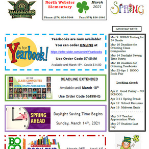 NWES March 2021 Parent Newsletter