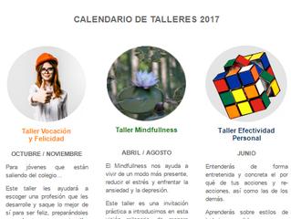 Calendario Talleres Personas 2017