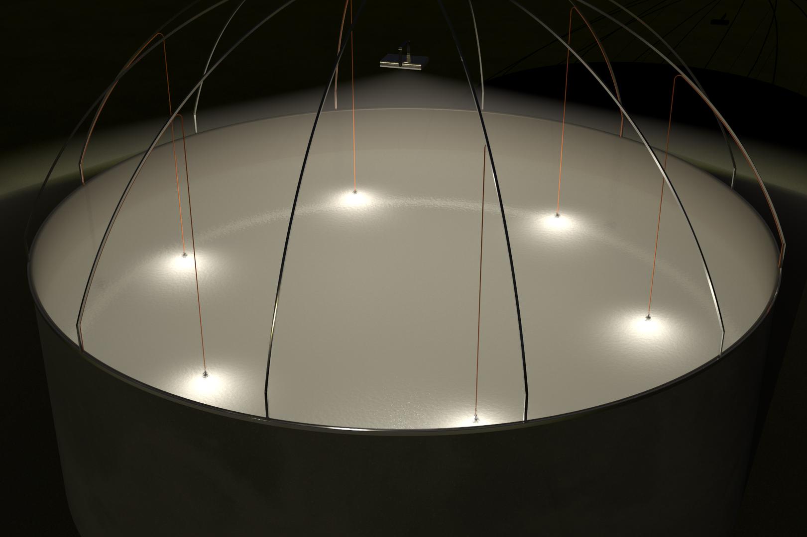 Iluminación Estanque