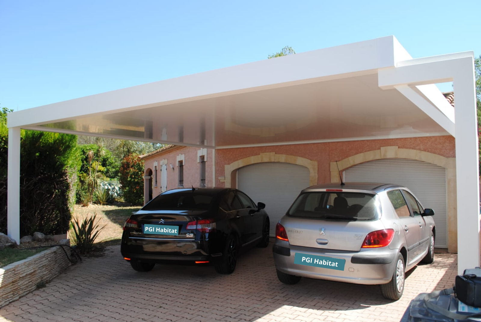 Double carport Alu