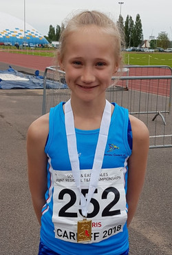 U13 girls 1500m East Wales
