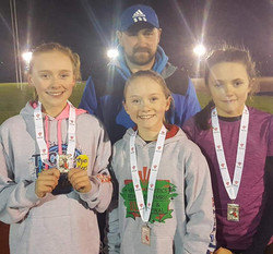 U13 girls team silver
