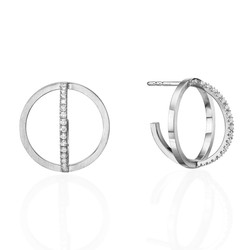 Circle Earrings E3002W