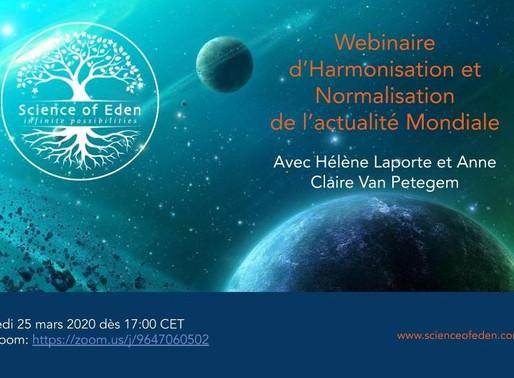 Webinaire 2 d'harmonisation du contexte mondial ( 25.03.20 )
