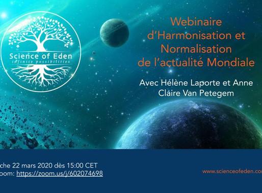 Webinaire 1 d'harmonisation du contexte mondial (22.03.20)