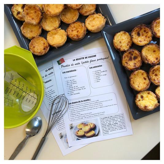 Atelier culinaire : les pastéis de nata 🇵🇹