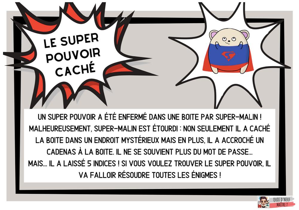 Histoire Escape Game CP-CE1