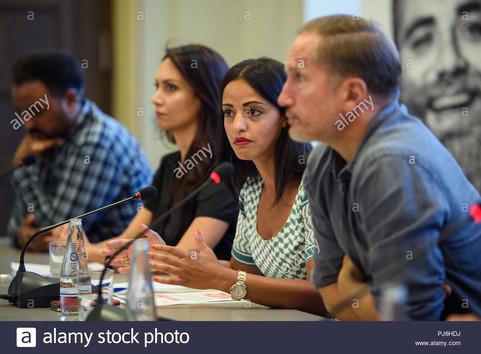 press conference/ Farben Bekennen Campai