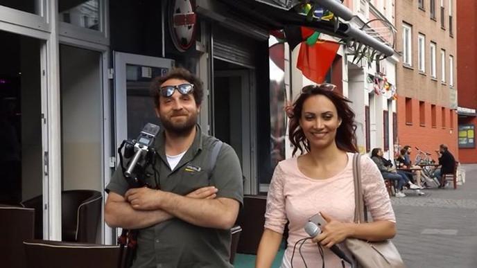with the italian Journalist Matteo Tacco