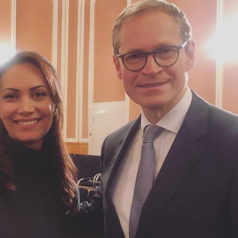 with Berlin mayor Herr Michael Müller