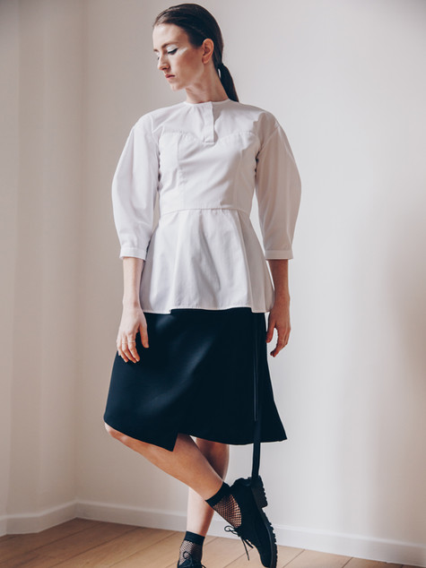 Satisfaction blouse, Insolence skirt