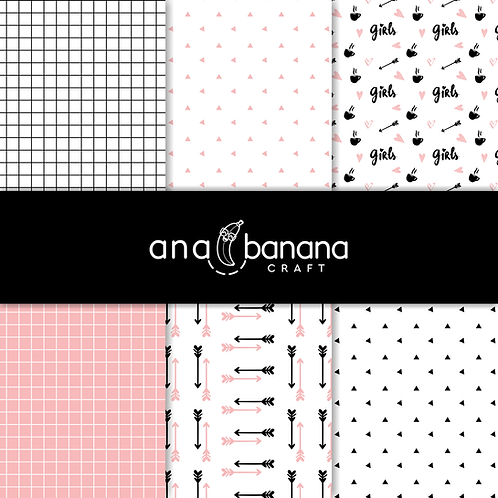 Cute Girls Digital Paper