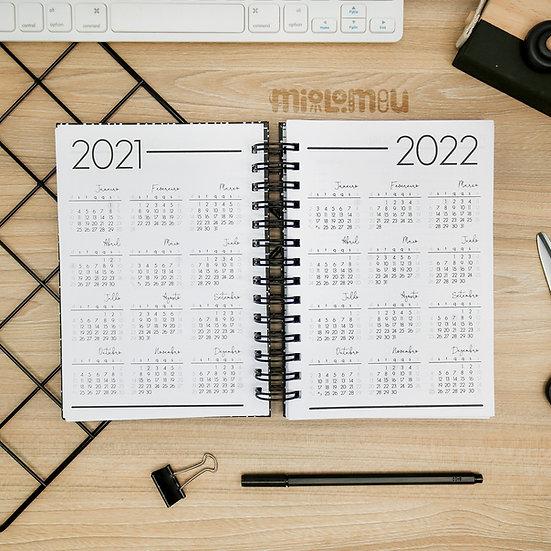 Calendário - Agenda Permanente Simple Black