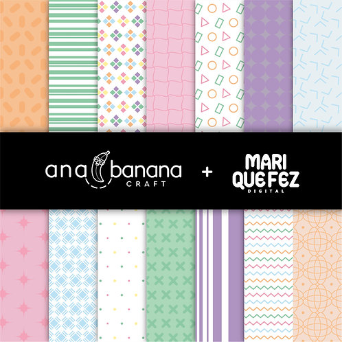 Cute Colors Digital Paper