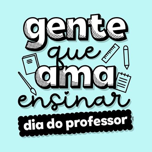 Lettering Dia do Professor